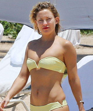 Kate Hudson Looks Super Toned in a Tiny Yellow Bikini During Her Hawaiian Getaway