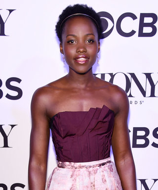 Lupita Nyong'o Prepares for the Tonys in a Dazzling Oscar de la Renta Dress