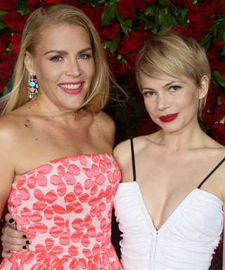 Busy Philipps and Michelle Williams attend 70th Annual Tony Awards - Arrivals at Beacon Theatre on June 12, 2016 in New York City.