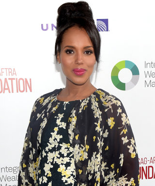 Kerry Washington Shows Off Her Baby Bump in a Flirty, Floral Dress