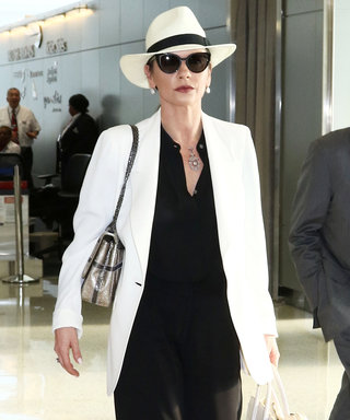 Catherine Zeta-Jones Shows Off Her Sophisticated Airport Style