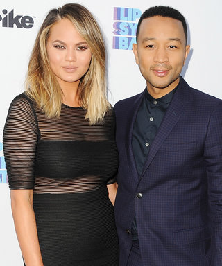 Chrissy Teigen Smolders in a Sheer Paneled Crop Top Dress for a Lip Sync Battle Event
