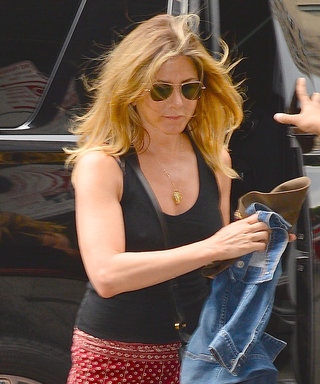 Jennifer Aniston Shows Off Her Toned Gams in a Mini Skirt on the Streets of N.Y.C.