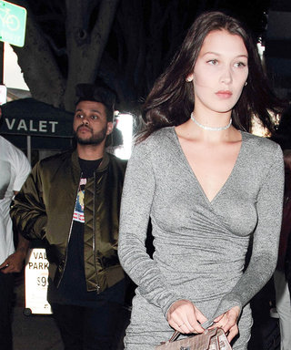 Bella Hadid Wows in Slinky Wrap Dress for Date Night with The Weeknd