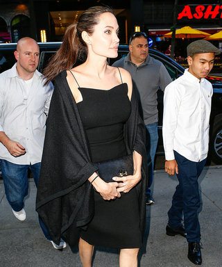 Angelina Jolie Looks Flawless in Chic LBD for Dinner with Son Maddox
