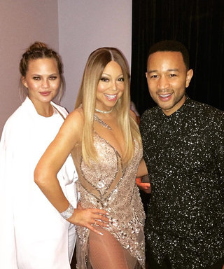 John Legend Joins Mariah Carey on Her Las Vegas Stage as Chrissy Teigen Hilariously Cheers Them on