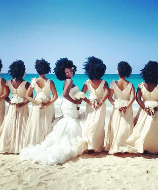 This Bridal Party Just Won Wedding Season Embracing Their Natural Hair