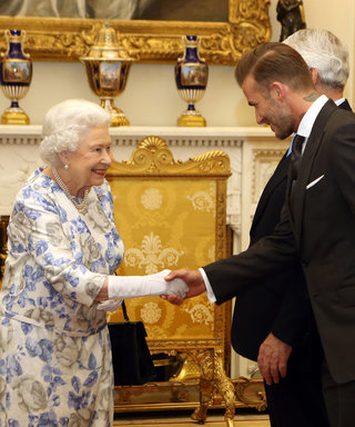 Queen Elizabeth Looks Happier Than Ever to See David Beckham at Buckingham Palace Event