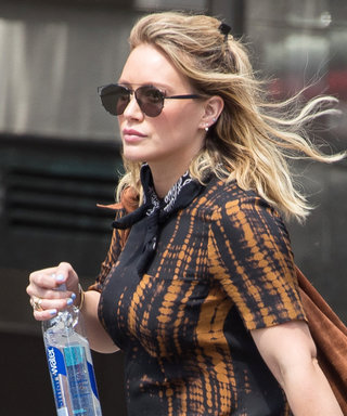 Hilary Duff Shows Off Her Super Toned Legs in Burgundy Short Shorts