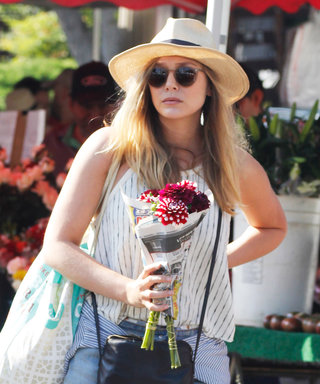 Elizabeth Olsen Picks Up Blooms in an Easy Breezy SoCal Ensemble