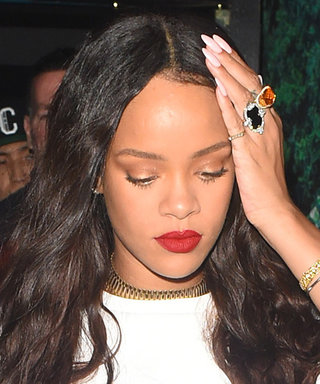 Rihanna Pairs Her $4K Blinged-Out Manolo Blahnik Denim Chap Boots with Daisy Dukes