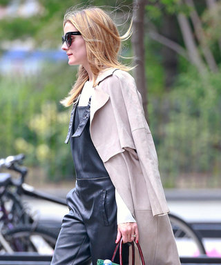 Olivia Palermo Rocks Leather Overalls for Summer One More Time