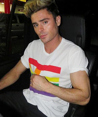 Zac Efron and More A-Listers Can't Stop Rocking Baja East's #BEProud LGBT Pride Tee—Shop for Yours Now