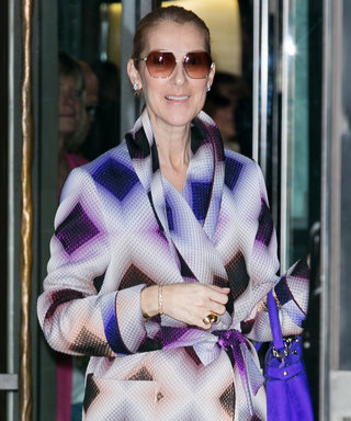 Celine Dion Delivers Parisian Glamour in a Purple Ensemble