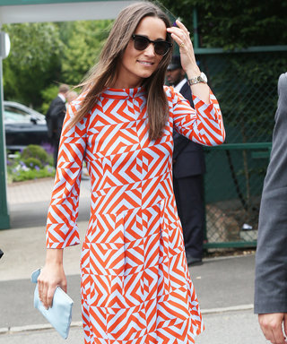 Pippa Middleton Goes Retro in a Geometric Shift at Wimbledon