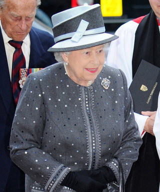 Queen Elizabeth Forgoes Bright Solids for Polka-Dotted Gray in Her Latest Royal Look