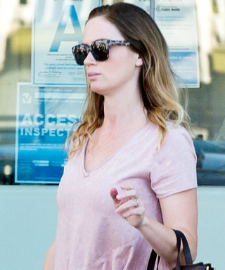 Emily Blunt Steps Out in Pink After Giving Birth to Her Second Child