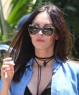 Megan Fox Tops Her Latest Maternity Ensemble with a Hot-Right-Now Lariat Choker—Get the Look
