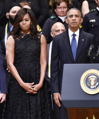 President Barack Obama and George W. Bush Unite at Memorial Service for Dallas Police Officers