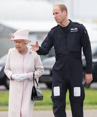Prince William Welcomes Grandparents Queen Elizabeth and Prince Philip to His Air Base