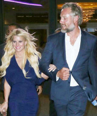 Jessica Simpson and Hubby Eric Johnson Rock Matching Summer Blues for Date Night at a Movie Theater