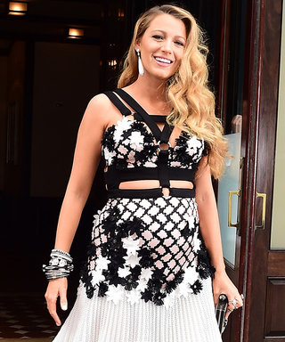 Blake Lively Rocks Cutouts and Suspender Details in Daring Maternity Look