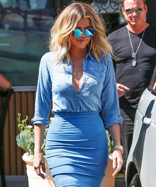 Khloe Kardashian Makes Denim Look Sleek and Sexy