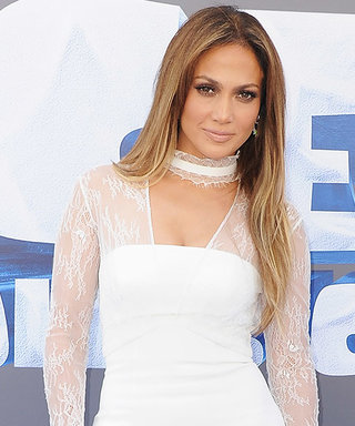 Jennifer Lopez Looks Ageless in White Lace at Ice Age Premiere