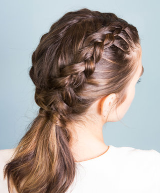 Learn How to Perfect Inverted French Braids with This Step-by-Step GIF