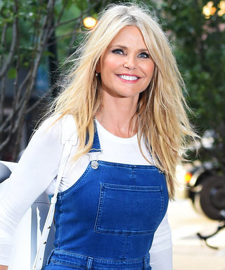 Christie Brinkley Strikes a Pose in '70s-Style Denim Overalls