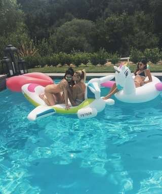 Kylie Jenner and Hailey Baldwin Cool Off with a Pool Party During the Heat Wave
