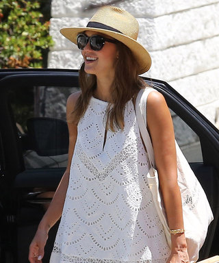 Jessica Alba Just Wore the Most Perfect White Sundress Ever—Shop It Here