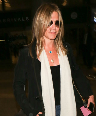 Jennifer Aniston Does Boho Chic Right at LAX Airport
