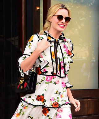 Margot Robbie's Flirty Floral Dress Is What Dreams Are Made Of