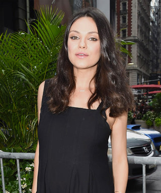 Mila Kunis Shows Off Her Baby Bump During Her NASDAQ Bell-Ringing Duties