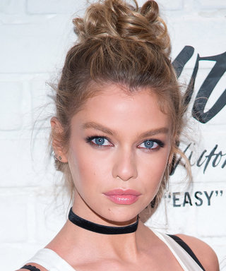 Stella Maxwell Has the Messy Bun and Lip Gloss Look on Lock