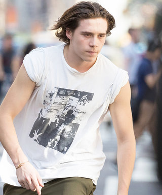 Brooklyn Beckham Looks Way Too Cool on a Skateboard in N.Y.C.