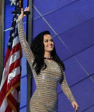 Katy Perry Glowed in a Sequined Silver Gown for a Roaring DNC Performance