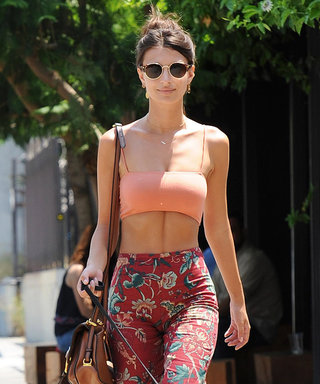 Emily Ratajkowski Beats the Heat in an Awesome Crop Top Outfit