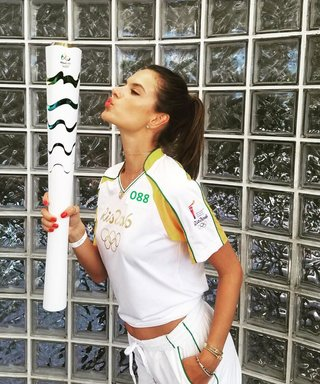 See Brazilian Supermodels Shine While Carrying the Olympic Torch