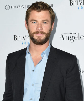 """Chris Hemsworth Claims He's """"Top Dog"""" After Winning a Doggy Stare Down This Weekend"""