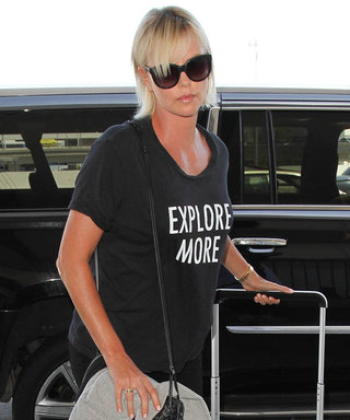 """Charlize Theron Is Ready to """"Explore More"""" Before Jetting Off on Flight"""