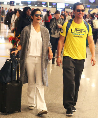 Rio Olympics: Matthew McConaughey and Camila Alves Are Comfy and Casual as They Depart Brazil