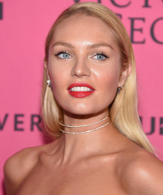 Candice Swanepoel Can Barely See Over Her Growing Baby Bump