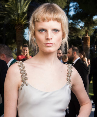 Model Hanne Gaby Odiele Wore a Stunning Silk Cape on Her Wedding Day