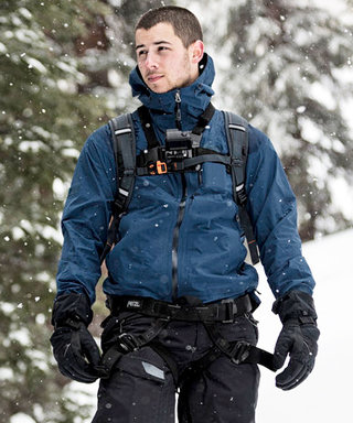 Watch Nick Jonas Strip Down to His Underwear and Cross a Freezing Lake on Running Wild with Bear Grylls