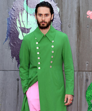 Jared Leto Wears Bubblegum Pink Pants to the Suicide Squad European Premiere