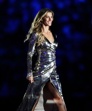 Gisele Bundchen Struts into Rio Olympics Opening Ceremony in a Metallic Gown