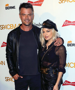 Fergie and Josh Duhamel Coordinate in Black Leather Outfits at the Spaceman Premiere