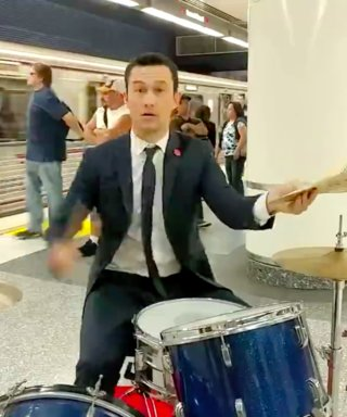Watch Joseph Gordon-Levitt Rock Out on Drums in a Subway Tunnel